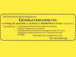 Generalversammlung 2018 @ Herrenhaus Ternitz | Ternitz | Niederösterreich | Österreich
