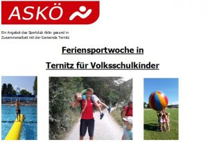 Feriensportwoche Ternitz 2020 @ Sportanlage Ternitz